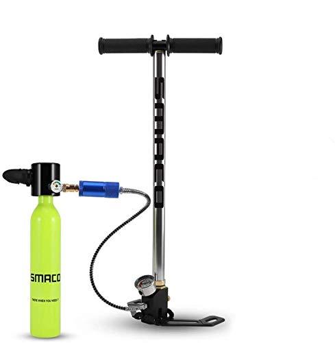 SMACO Sauerstoffflasche Tauchen Scuba Diving Mini Tauchflasche Tragbare Tauchausrüstung Taucherausrüstung Set Taucher Ausrüstung mit Sauerstoffmaske Hochdruck Luftpumpe Tauchen atmen Unterwasse