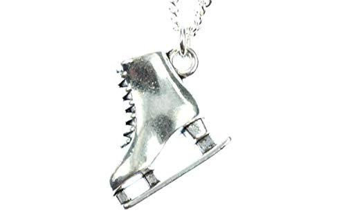 Miniblings Schlittschuh Eislaufen Halskette - Handmade Modeschmuck I Kette mit Anhänger Länge: 45cm - Eisprinzessin Eiskunstlauf Silber