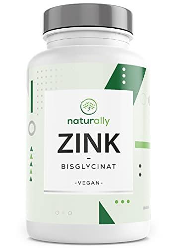 naturally Zink-Tabletten für 1 Jahr - 365 Tabletten mit je 25 mg Zink-Bisglycinat - Hochdosiertes Nahrungsergänzungsmittel - Zinc Supplement - Vegan