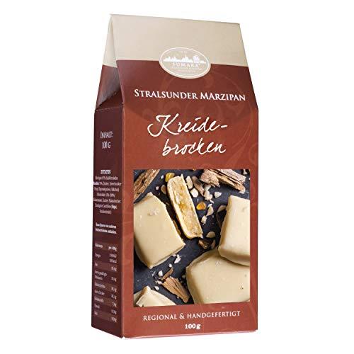 Stralsunder Marzipan Happen - Kreidebrocken 'Rügener Kreide' mit weißer Schokolade - 100g