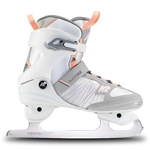 K2 Skates Damen Schlittschuhe Alexis Ice Fb — White - Coral — EU: 38 (UK: 5 / US: 7.5) — 25E0050