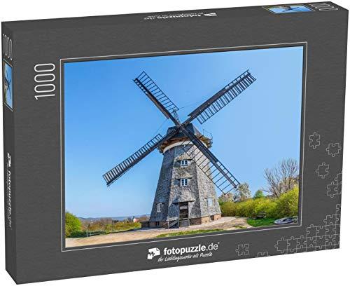 fotopuzzle.de Puzzle 1000 Teile Die niederländische Windmühle in Benz auf der Insel Usedom, Mecklenburg-Vorpommern, Deutschland