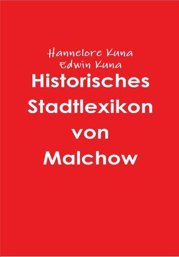 Historisches Stadtlexikon von Malchow