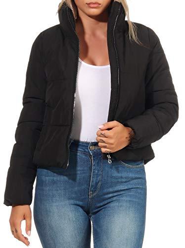 ONLY Damen Steppjacke ONLDolly Kurze Jacke mit hohem Kragen 15205371 Black S