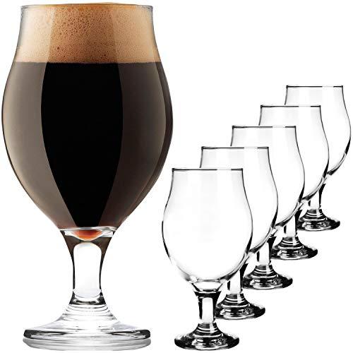 PLATINUX Biertulpen Biergläser Set 6 Teilig 450ml (max. 550ml) Bierkrüge aus Glas Bierschwenker Pilsgläser Altbierglas