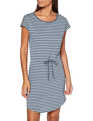 ONLY Damen ONLMAY Life S/S Dress NOOS Kleid, Stripes:Thin Stripe Cloud Dancer Blue Mirage, XS