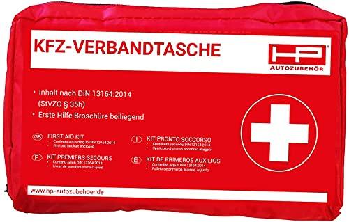 HP Autozubehör 10039 KFZ-Verbandtasche in Rot-Mindesthaltbarkeit Minimum 4 Jahre