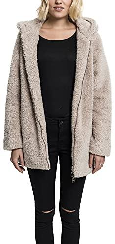 Urban Classics Damen Ladies Sherpa Jacket Kapuzenpullover, Sand, S