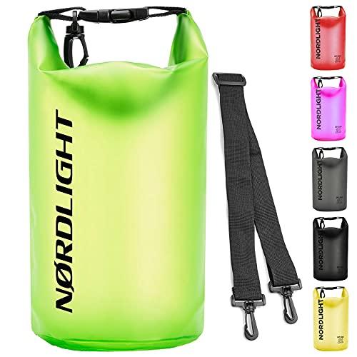 Dry Bag 20L Wasserdichter Beutel - (Grün) Packsack Und Strandsafe Dokumententasche Für, Strand, Kanu, Stand Up Paddling, Tauchen