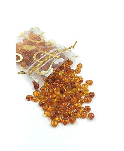 Amber Jewelry Shop Cognac Natürlicher Baltischer Bernstein Lose Perlen mit einem polierten Loch Gewicht: 5 Gramm Bernstein perlen sind bereit für die Herstellung von Schmuck