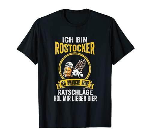 Herren Rostock Bier Rostocker Ostfriese Hansestadt Moin Lustiges T-Shirt