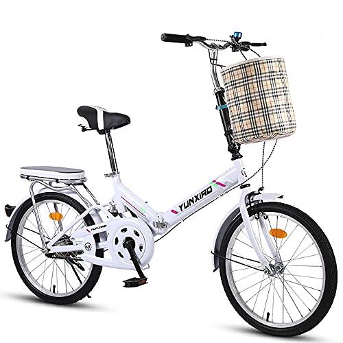 DODOBD Faltrad Klapprad City Bike, ultraleichte tragbare Klappfahrrad, Retro Style Citybikes Faltbare Trekking-Fahrrad-Licht-Fahrrad, Erwachsene Männer und Frauen Freien Reitausflug