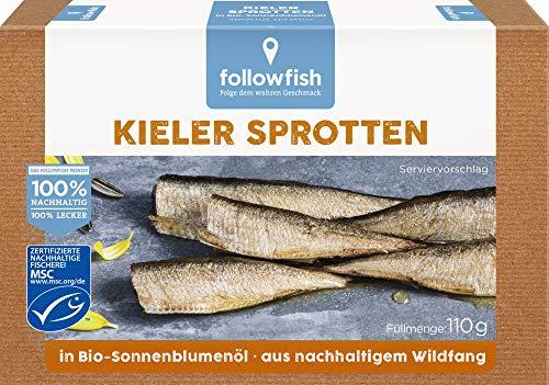followfish MSC Kieler Sprotten in Bio-Sonnenblumenöl, 110 g