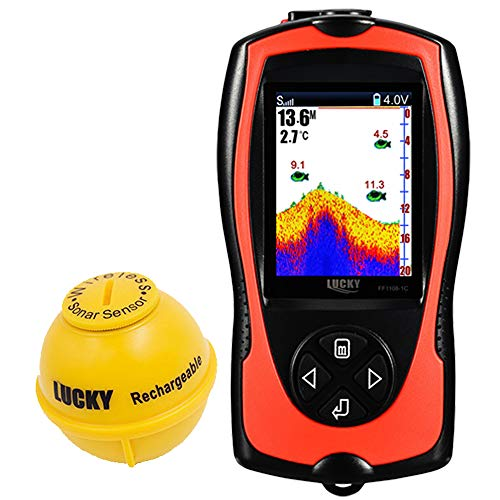 LUCKY Fischfinder Echolot Wireless Kleiner Fishfinder zum Angeln, Kajakfahren, Kanufahren, Boot