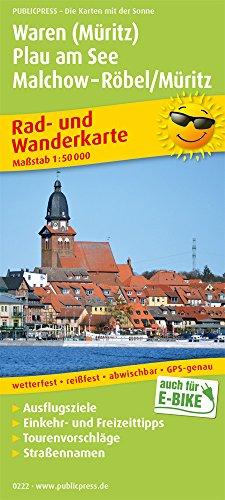 Waren (Müritz) - Plau am See - Malchow - Röbel/Müritz: Rad- und Wanderkarte mit Ausflugszielen, Einkehr- & Freizeittipps, wetterfest, reissfest, ... 1:50000 (Rad- und Wanderkarte: RuWK)