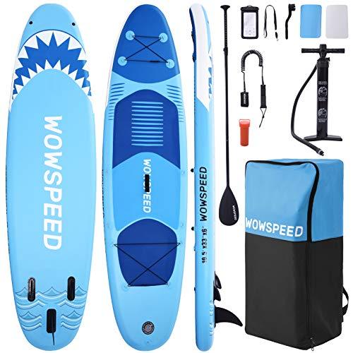 CosHall Stand Up Paddling Board, 320 * 84 * 15cm Stand Up Paddling Board aufblasbar,130KG Aufblasbares SUP Board Surfbrett Sets, mit hochwertigem Zubehör für Jugendliche und Erwachsene (A)