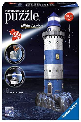 Ravensburger Leuchtturm bei Nacht
