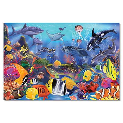 Melissa & Doug Fußbodenpuzzle - Unterwasserwelt