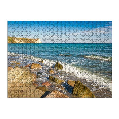 artboxONE Ravensburger-Puzzle L (500 Teile) Reise / Strand und Meer Herbst am Kap Arkona - Puzzle ostsee Meer ostsee