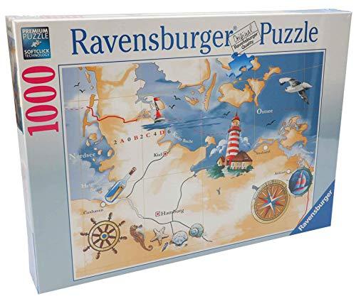 Ravensburger Puzzle Nord- & Ostsee   1000 Teile   Cuxhaven   Hamburg   Fehmarn   Kiel   Stralsund