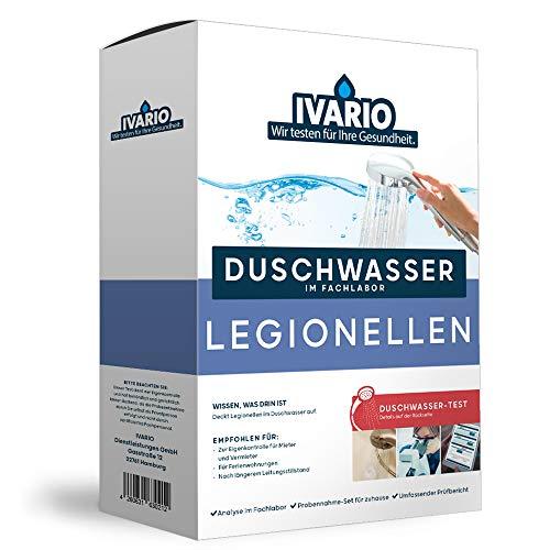 IVARIO Legionellen Labor-Wassertest für Trinkwasser/Leitungswasser, Experten-Analyse im akkreditierten Deutschen Fachlabor/24h-Versand/kostenlose Beratung/Einfache Probenahme
