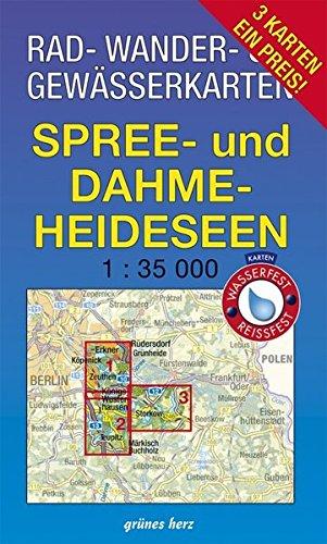 Rad-, Wander- und Gewässerkarten-Set: Spree- und Dahme-Heideseen: Mit den Karten: 'Dahme-Seen: Königs Wusterhausen, Teupitz', 'Dahme-Spree: Köpenik, ... Berlin/Brandenburg: Maßstab 1:35.000)