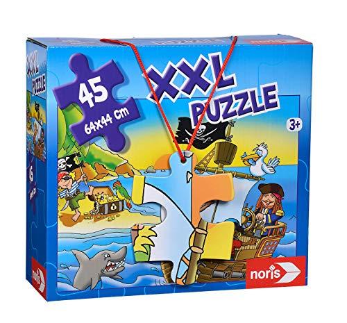 Noris 606034960 XXL Riesenpuzzle Piraten in Sicht mit 45 Teilen (Gesamtgröße: 64 x 44 cm) - für Kinder ab 3 Jahren