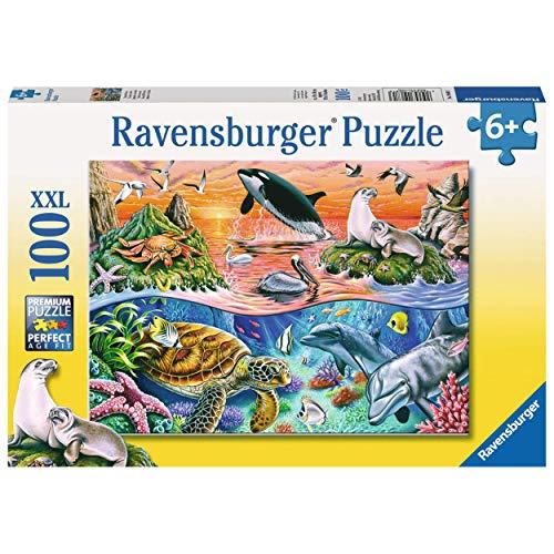 Ravensburger Kinderpuzzle - 10681 Bunter Ozean - Unterwasserwelt-Puzzle für Kinder ab 6 Jahren, mit 100 Teilen im XXL-Format