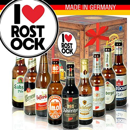 I love Rostock/Bier DDR Geschenk Idee/Ideen Geburtstag Rostock