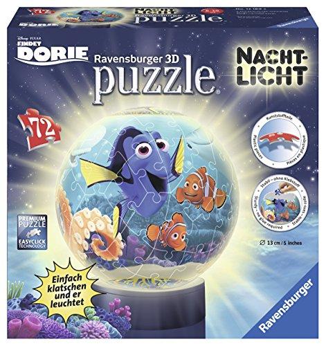 Ravensburger 12189 - Findet Dorie 3D Puzzle-Ball, 72-teilig Nachtlicht