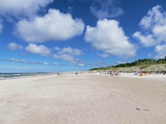 Strand an der polnischen Ostsee