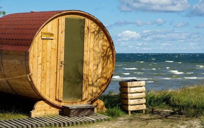 Ostsee Expedition Litauen / Sauna am Ufer