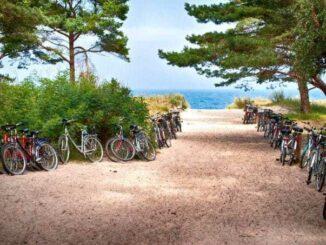 Fahrrad fahren an der Ostsee