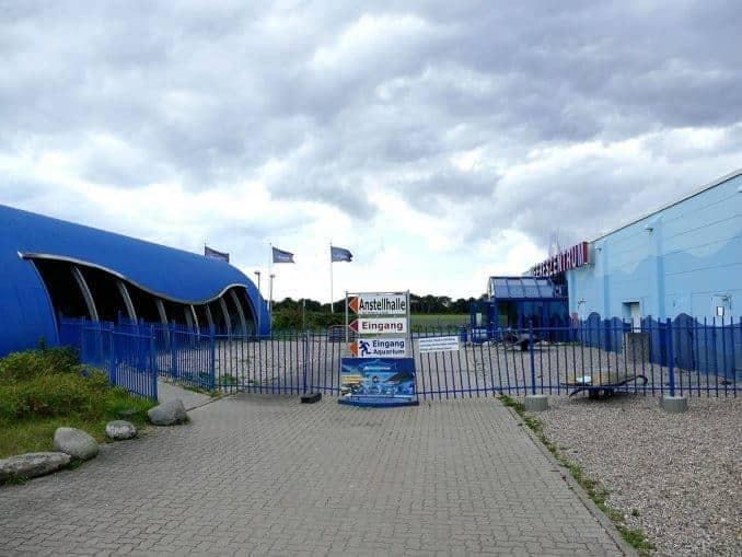 Eingangsbereich Meeres-Zentrum auf Fehrmarn