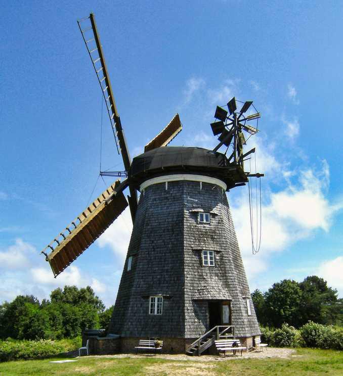 Alte Windmühle in Benz auf Usedom