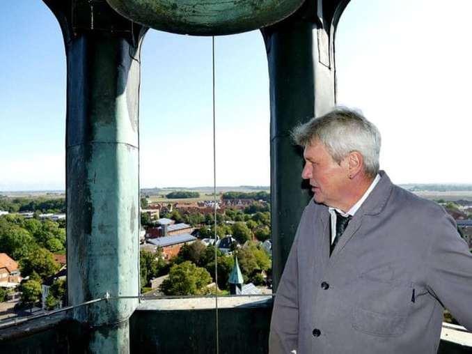 Rundum blick im Glockenturm auf Fehmarn