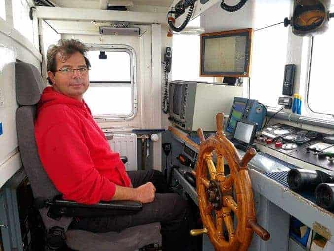 Kapitän Daniel Deutsch von der MS Einigkeit
