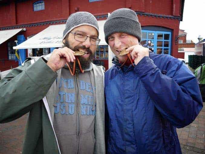 Medaillen Gewinner beim Hochseeangeln in Heiligenhafen