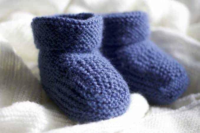 Was man aus Wolle alles machen kann - Babywollsocken