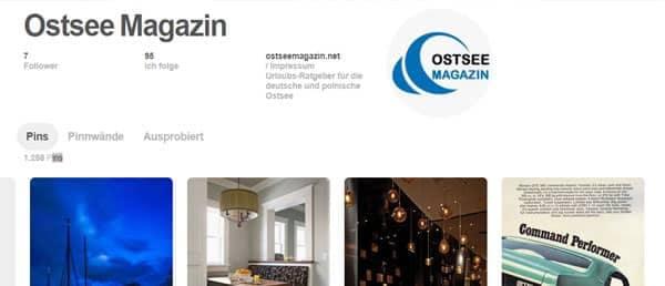 screenshot-pinterest Ostsee Magazin Presse & Mediadaten