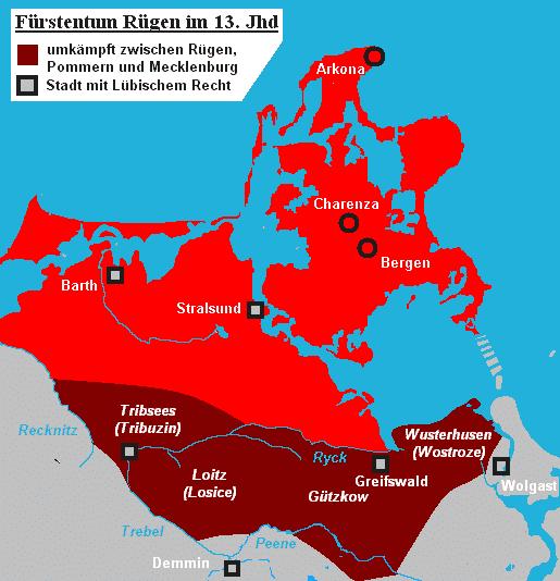 Fürstentum Rügen im 13. Jahrhundert