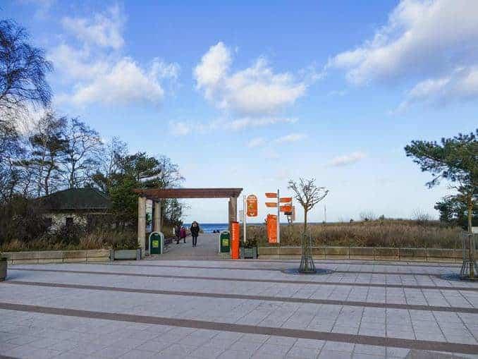 Eingang zum Strand in Karlshagen