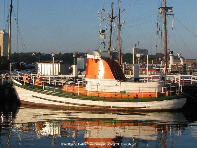 Kiel Museumsbrücke Museumsschiff Hindenburg im Schifffahrtsmuseum Kiel