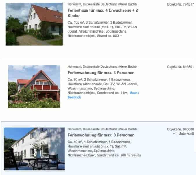 Hohwacht Ostsee Ferienhaus & Ferienwohnung