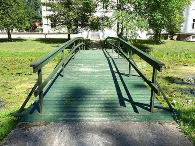 Grüne Brücke auf dem Landgut Varzin