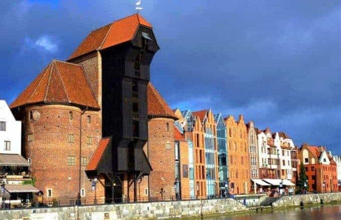 Das Krantor in Danzig (Gdańsk) Polnische Ostsee