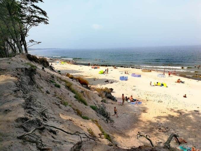 Steilküste in Orzechowo polnische Ostsee