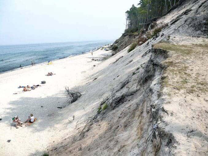 Strand und Steilküste Orzechowo Morskie