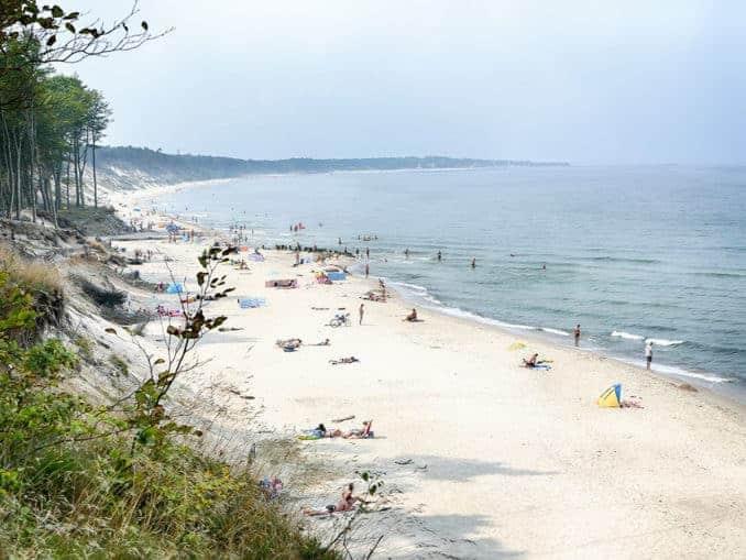 Steilküste in Orzechowo