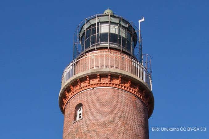 Seefeuer Leuchtturm Darßer Ort mit Naturreum